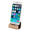 Cargador Base para Iphone Sincronizador Conexión Lightning USB - Dorado al mejor precio solo en loi