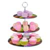 Exhibidor de Postres y Cupcakes de 3 Pisos en Vidrio Diseño Macarrones al mejor precio solo en loi
