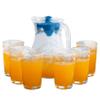 Jarra de Vidrio con Tapa Azul de 1.2L y 6 Vasos al mejor precio solo en loi