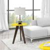 Mesa lateral de 3 patas en Amarillo al mejor precio solo en loi