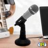Micrófono Metálico con Pedestal Kolke KPI-049 al mejor precio solo en loi