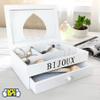Organizador de Bijoux en madera, estilo Vintage con compartimentos y cajón. al mejor precio solo en loi