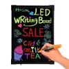 Pizarra LED Eléctrica Fluorescente Para Colgar 40x60cm con 6 Marcadores al mejor precio solo en loi