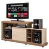 Rack Porto móvil TVs hasta 47'' c/ Mini Bodega Vainilla al mejor precio solo en LOI