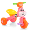 Triciclo Infantil Plegable con Música y Luces LED Diseño Vaca Gran Calidad - Rosa y Naranja al mejor precio solo en loi