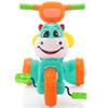 Triciclo Infantil Plegable con Música y Luces LED Diseño Vaca Gran Calidad - Teal y Naranja al mejor precio solo en loi