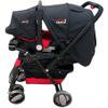 Coche Bebé Swiss Armor Travel System Negro y Rojo al mejor precio solo en loi