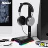 Soporte para Auriculares Gaming Kolke KGI-474 Retroiluminación LED RGB Conexiones USB al mejor precio solo en loi