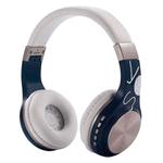 Auriculares Bluetooth BT1607 con Mic Potencia y Calidad - Azul y Blanco