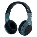 Auriculares Bluetooth BT1607 con Mic Potencia y Calidad - Celeste
