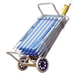 Carro Mesa de Aluminio para la Playa AZUL