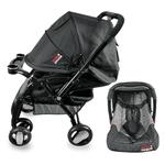 Coche Bebé Travel System con Baby Silla Negro y Gris