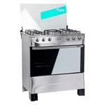 Cocina TEM Gourmet Super Gas Acero Inox 5 Hornallas