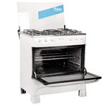 Cocina TEM Mastercook Super Gas 5 hornallas - Blanco