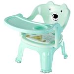 Silla de Comer 2 en 1 para Bebés y Niños hasta 4 Años - Verde Agua