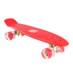 Patineta Skate con Ejes de Aluminio y Ruedas en PU - Rojo