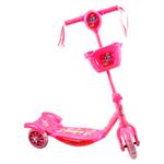 Tripatín Scooter Infantil Reforzado con Canasto Luces y Sonidos - Rosado