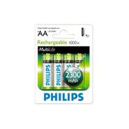 Pilas Recargables AA Philips Pack X 4 Rendimiento Real al mejor precio solo en loi