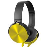 Auriculares Extra Bass c/micr. y cable plano Amarillo al mejor precio solo en loi