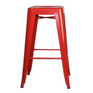 Banqueta EMPOLi de estructura metálica Roja al mejor precio solo en loi