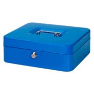 Caja Metálica para Dinero  Mediana 2 llaves y bandeja para monedas Azul al mejor precio solo en loi