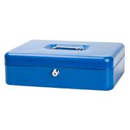Caja Metálica para Dinero Grande con 2 llaves y bandeja para monedas Azul al mejor precio solo en loi