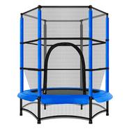 Cama Elástica 1.4mts 5.5ft con Malla y Protección Anti-Caídas - Azul al mejor precio solo en loi