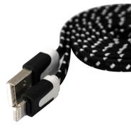 Cable USB carga y datos para iOS tela trenzada ultra durable - Negro al mejor precio solo en loi