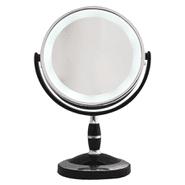 Espejo Redondo Doble Cara con luz LED y Rotación 360° Aumento 2x al mejor precio solo en loi