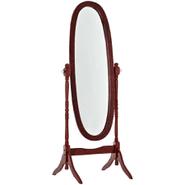 Espejo Oval de Pie con Marco de Madera - tabaco al mejor precio solo en loi
