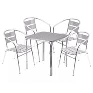 Juego de Jardín 4 sillas y mesa de aluminio al mejor precio solo en loi