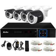 Multi Kit Seguridad Kolke 4 cámaras IP66 FULL HD + DVR + accesorios al mejor precio solo en loi