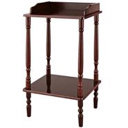 Mesa auxiliar fabricado en madera color tabaco al mejor precio solo en loi
