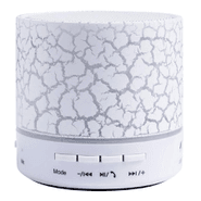 Mini Parlante Portátil Bluetooth 3W Luces LED - Blanco al mejor precio solo en loi