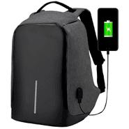 Mochila Antirrobo en tela impermeable con USB Negro al mejor precio solo en loi