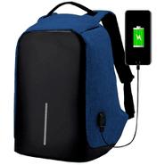 Mochila Antirrobo Tela Impermeable con USB - Azul al mejor precio solo en loi