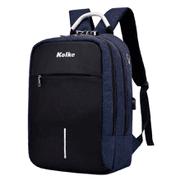 Mochila Anti-robo Kolke con Candado y Asa KVM-338 - Azul al mejor precio solo en loi