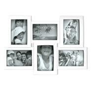Portarretrato Múltiple de pared, con lugar para 6 fotografías - Blanco al mejor precio solo en loi
