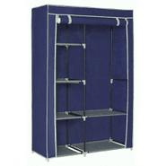 Ropero de Tela Plegable con perchero y 6 estantes - Azul Marino al mejor precio solo en loi