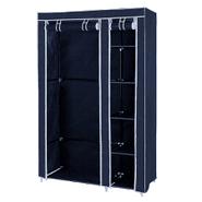 Ropero de tela plegable con perchero y 5 estantes Azul al mejor precio solo en loi