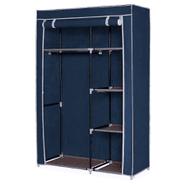 Ropero de tela Plegable con perchero y 5 estantes Azul Marino al mejor precio solo en loi