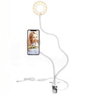 Aro de Luz Para Selfies 9 cm para Celulares con Brazo Flexible Conexión por USB - Blanco al mejor precio solo en loi