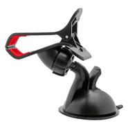 Soporte de Celular con Pinza Ventosa para Auto Rotación 360° - Negro al mejor precio solo en loi