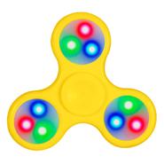 Fidget Spinner con Luces LED Color Amarillo al mejor precio solo en LOI