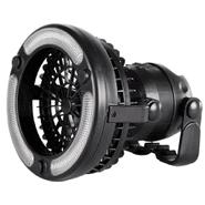 Ventilador Linterna 2 en 1 Portátil con Base y Gancho para Colgar - Negro al mejor precio solo en loi
