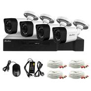 Kit de Seguridad Kolke FullHD XVR 8 Canales 1080p + 4 Cámaras 2.0MP IP66 + Accesorios al mejor precio solo en loi