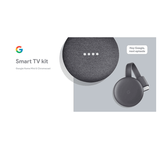 Google Smart TV Kit Chromecast + Google Home Mini al mejor precio solo en loi
