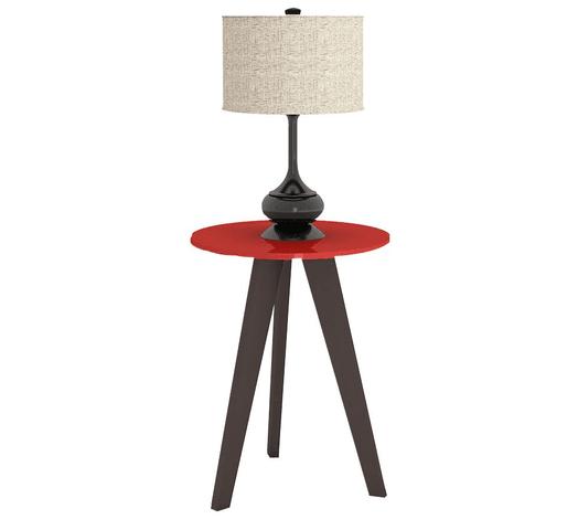 Mesa lateral de 3 patas en Rojo al mejor precio solo en loi
