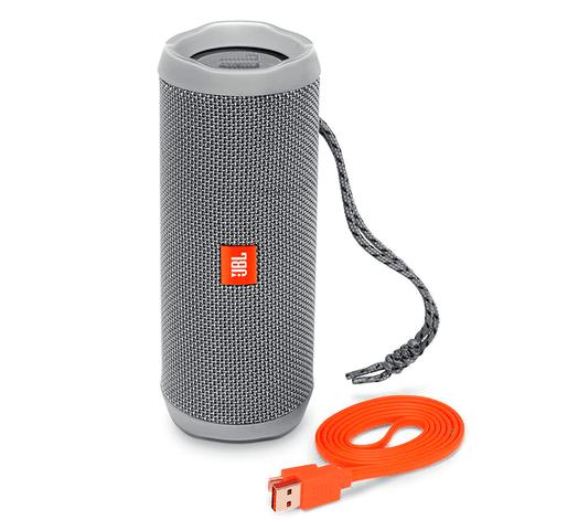 Parlante JBL Flip 4 Bluetooth Portátil - Gris al mejor precio solo en loi