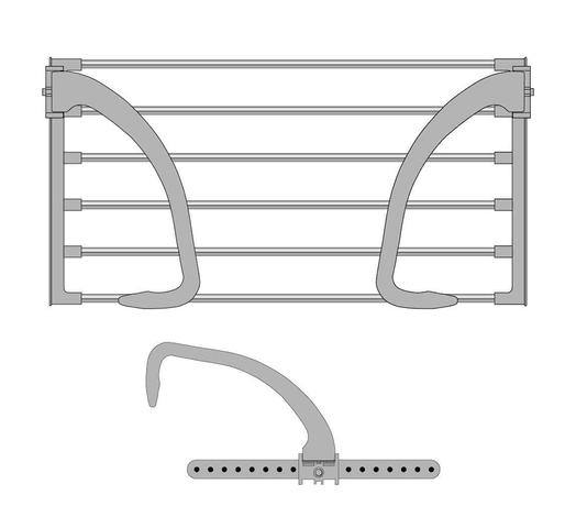 rack colgante Modelo Multifunción Gris al mejor precio solo en loi